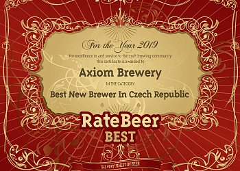 AXIOM IS THE BEST NEW BREWERY IN CZECH REPUBLIC – RATEBEER.COM AWARD