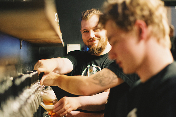 Axiom tap take over at BeerGeek Bar, Prague